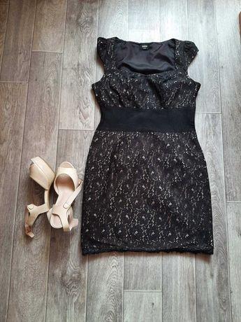 Чёрное базовое платье бренда Oasis 44 размера