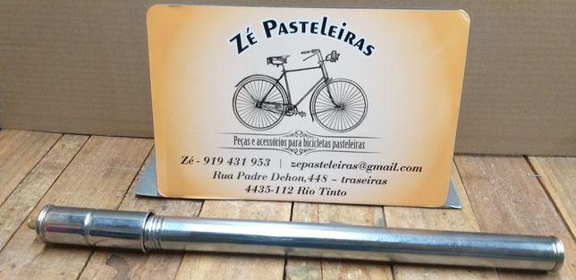 Bomba de ar cromada nova para bicicleta pasteleira