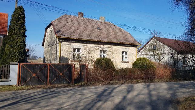 Dom z budynkami gospodarczymi , duża działka, Wilkowiecko