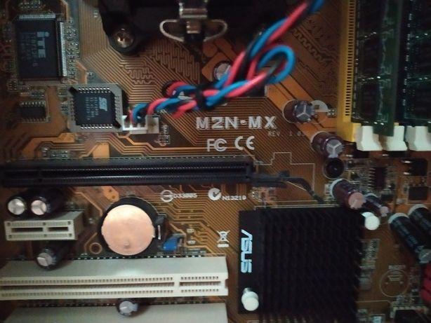 Комплект материнская Asus M2N-MX - проц AMD Athlon 64 x2 - 4 Gb DDR2