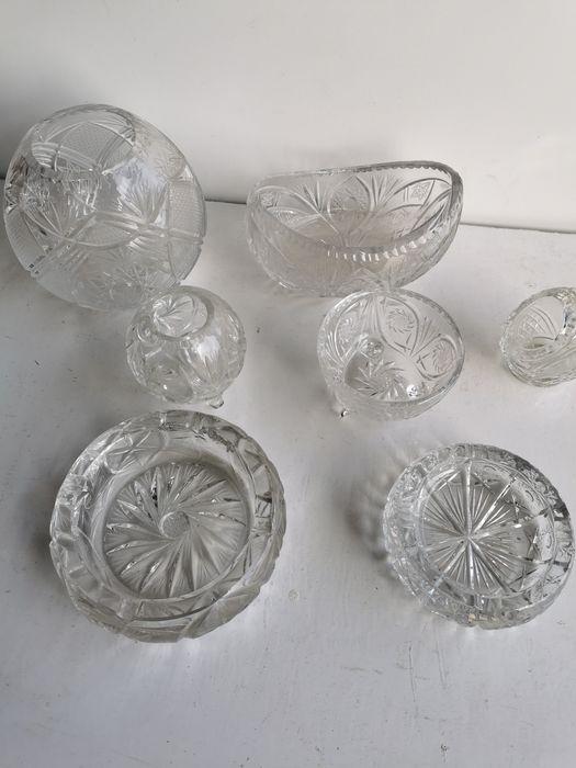 Kryształy popielniczka cukiernica 7szt Łagiewniki Małe - image 1