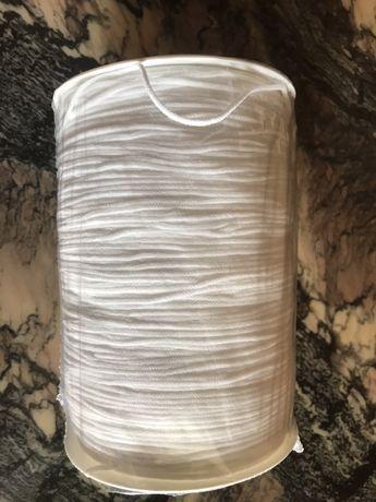 Gumka okrągła biała, elastyczna, miękka, szpula 600m, do maseczek