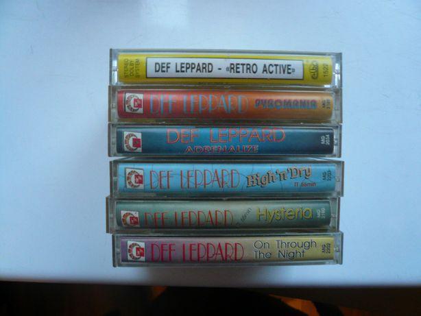 wyprzedaż kolekcji kaset magneto. audio Def Leppard