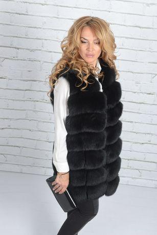 Женская меховая жилетка шуба безрукавка пальто куртка жилет из меха