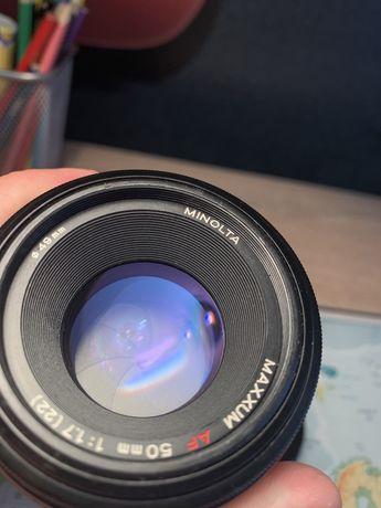 Minolta 50 f 1.7 Maxxum Sony A Lustrzanka Obiektyw
