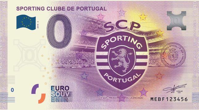 Nota de 0€ (zero euros): Sporting Clube de Portugal