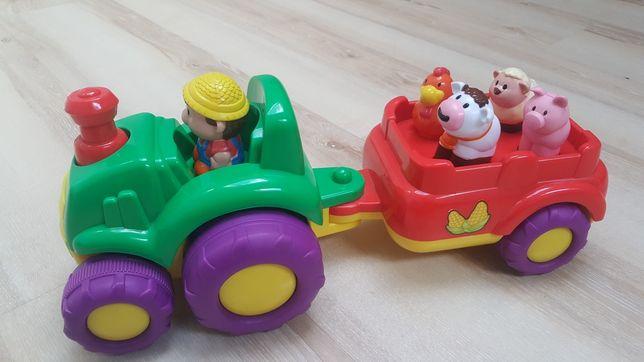 Traktor ze zwierzatkami SMIKI, JAK NOWY, tylko 34 zl.