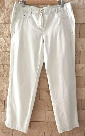 Olmar r. 46 jasne kremowe spodnie chinos