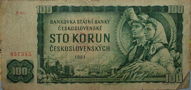 100 koron czechosłowackich z 1961 roku