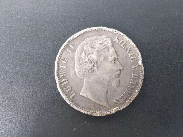 5 марок Бавария 1876 г серебро