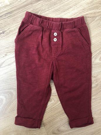 Spodnie bordowe H&M rozmiar 80