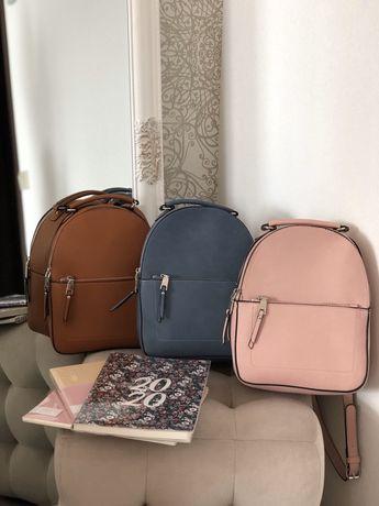 Новые стильные рюкзаки, синий, коричневый, розовый