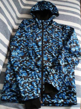 Kurtka,bluza Softshell z kapturem i rękawicami, 146/152 (10-12lat)