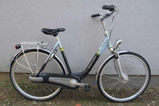 Wygodny ZADBANY rower holenderski Gazelle Orange Nexus 7