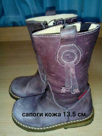Сапоги.ботинки 13,5 см. демисезонные кожа