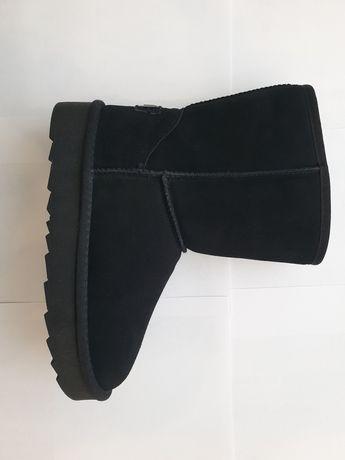 Сапожки замшевые чёрные