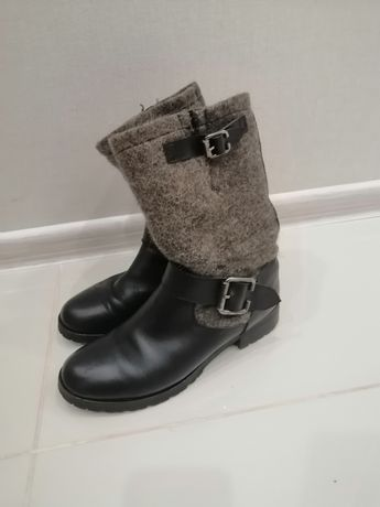 Зимові шкіряні черевики