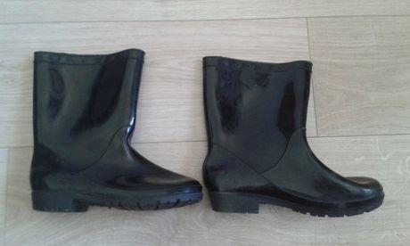 Gumiaki 35/36 kalosze gumowce buty czarne dziewczęce chłopiece