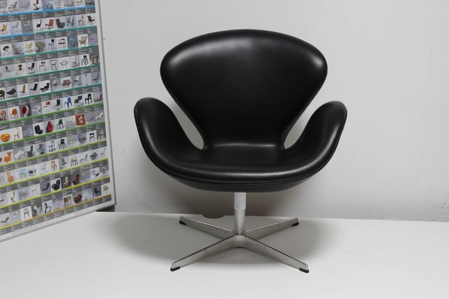 Fotel Fritz Hansen/Arne Jacobsen Swan skóra oryginał vintage (Vitra)