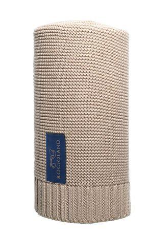 Bocioland Koc Tkany Bawełniano Bambusowy Paris 80X100Cm Beżowy