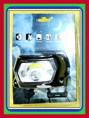 Czołówka CREE XP-E LED i COB z 5 Tryby (Latarka)