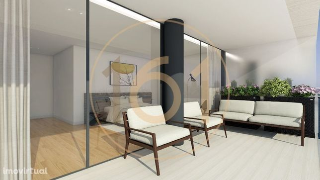 Apartamentos T2 com garagem em resort urbano na margem sul da Foz d...