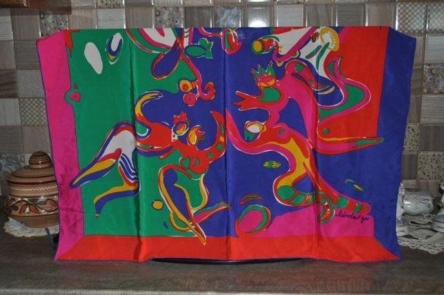 Платок шелк натуральный подписной 85 см