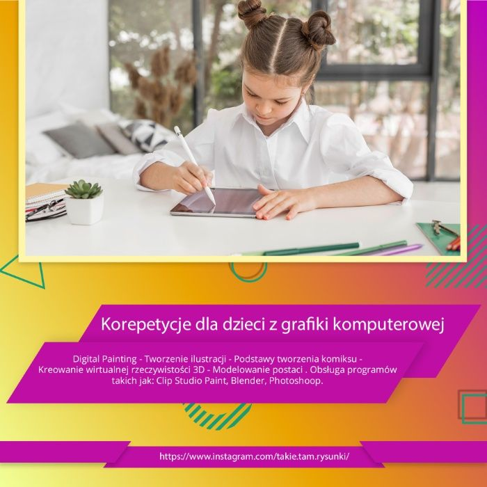 Korepetycje dla dzieci z grafiki komputerowej Warszawa Warszawa - image 1