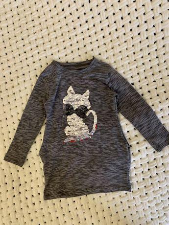 Платье туника с паетками (меняет цвет) 110-116