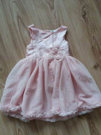 sukienka pudrowy róż H&M rozm.104