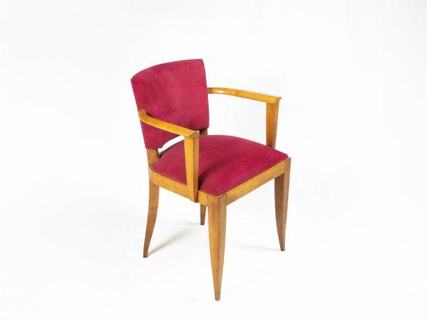 Par cadeiras vintage - forro cereja Art Deco