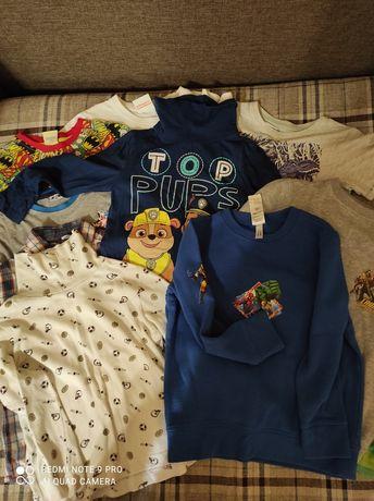 Пакет вещей на мальчика 4- 5лет футболки кофта куртка