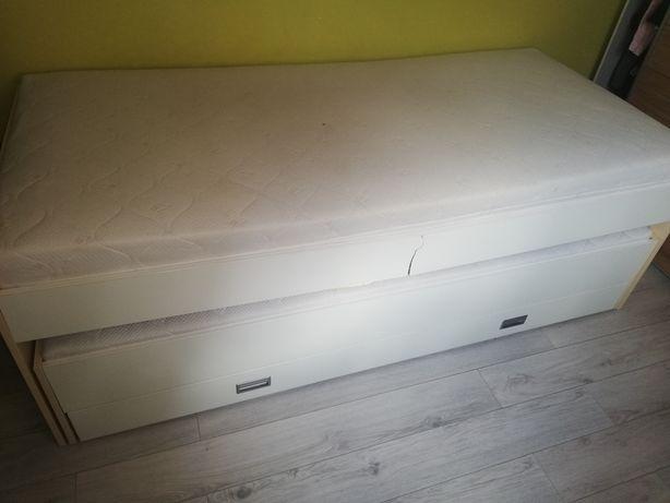 Łóżko piętrowe 2 osoby duże białe