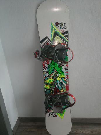 Deska snowboardowa z wiązaniami Ride