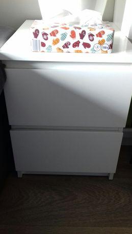 Komoda ikea malm biała dwie szuflady