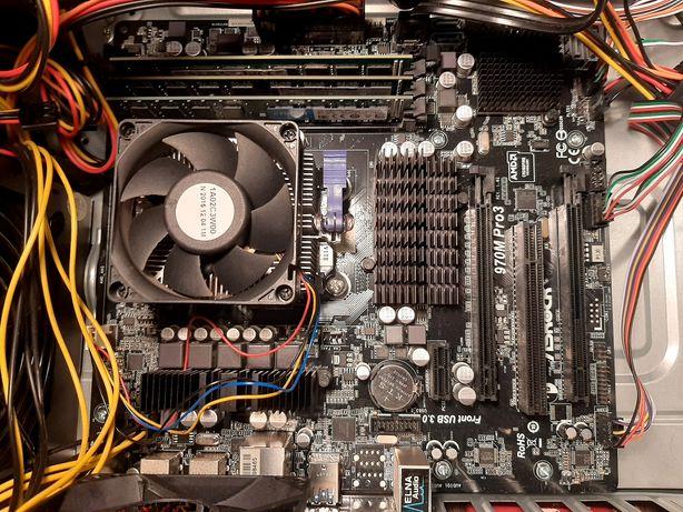 Płyta główna ASRock970Mpro3 z procesorem amd fx 6300 i ramem 16GB DDR3