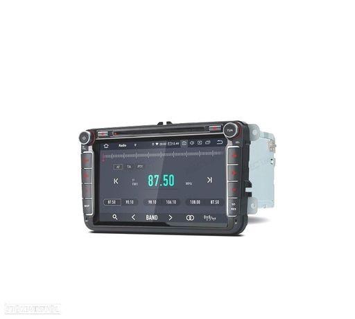 "AUTO RADIO GPS ANDROID 9.0 LCD TÁCTIL 8"" 4K VW SEAT E SKODA 4GB RAM 64GB ROM HEXA-CORE CARPLAY HDMI"