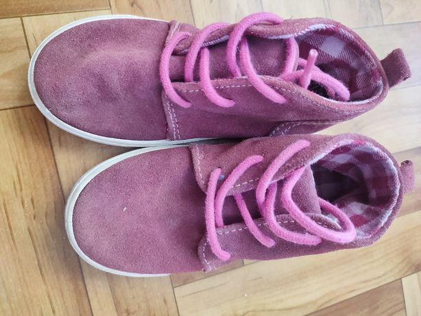Ботинки детские замшевые