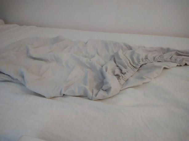 Prześcieradło do łóżeczka x 3 szt. bawełniane/mikrofibra 90x120