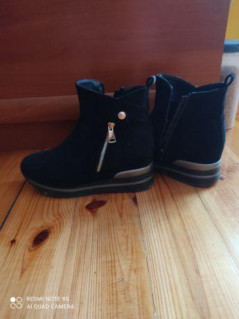 Botki buty 38 czrne