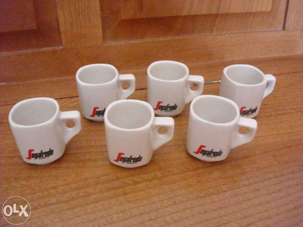 Conjunto de 6 chávenas de café Segafredo