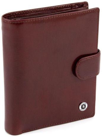 Мужской большой кошелек из гладкой коричневой кожи BOSTON из турция