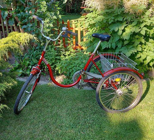 Rower trójkołowy, rehabilitacyjny TOLEK 24' Koła