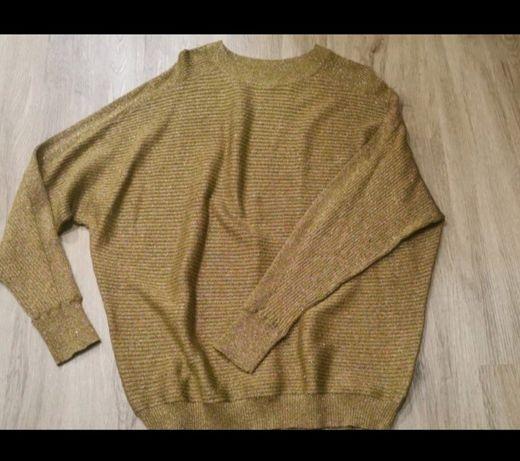 Bluzka/sweterek złoty/musztardowy, kobiecy