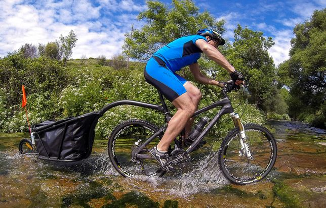 Atrelado para bicicleta. Bike trailer. Aevon STD 100 Trailer.