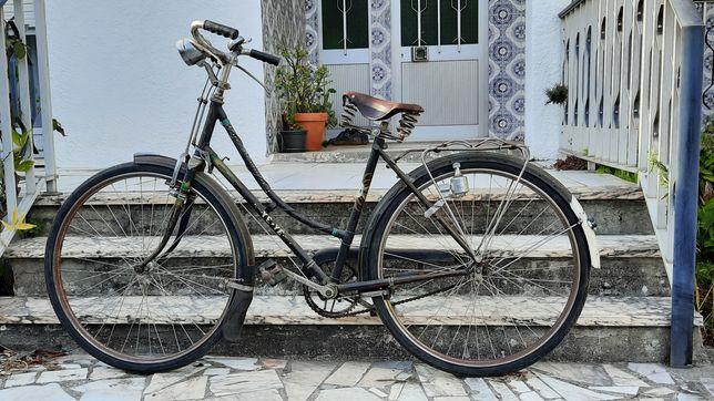 Bicicleta tipo Ye-ye vintage cor preto selim Tabor
