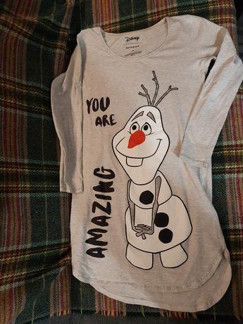 Koszula nocna długi rękaw Olaf Kraina lodu Frozen 36