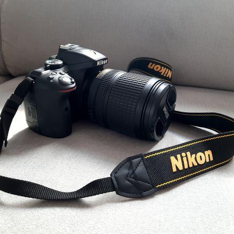 Aparat lustrzanka Nikon D5300 + Obiektyw Nikkor 18-140 - jak nowy