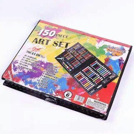 арт набор карандаши фломастеры краски