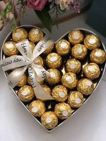 Сердце с Ferrero Rocher